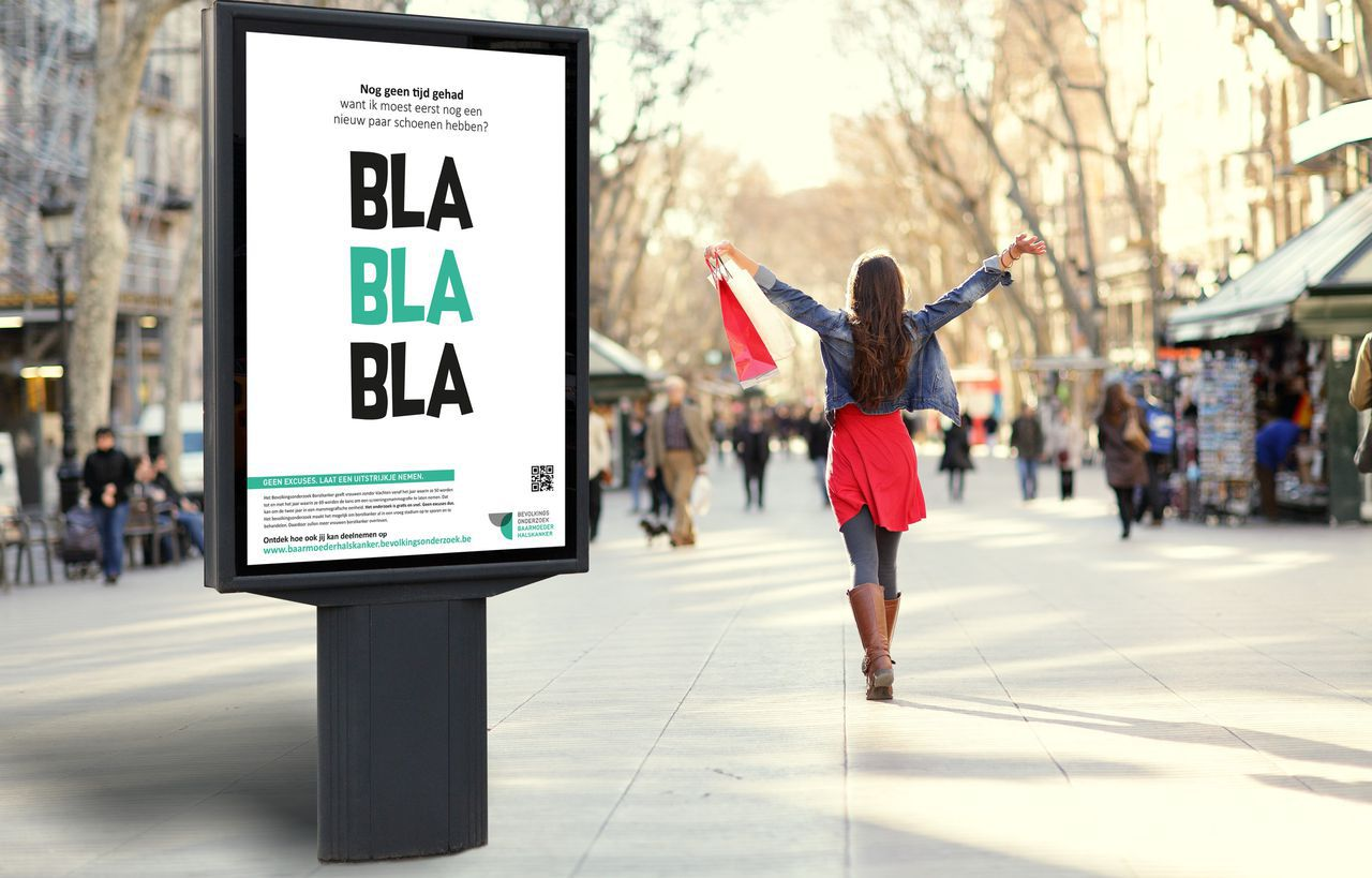 Blablabla campagne Bevolkingsonderzoek Baarmoederhalskanker