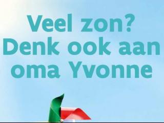 Affiche veel zon denk ook aan oma Yvonne