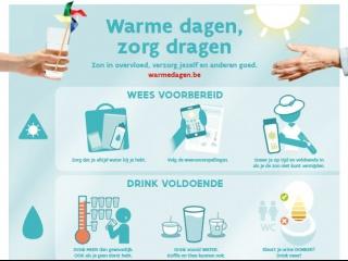 Informatieve affiche Warme dagen ouderen